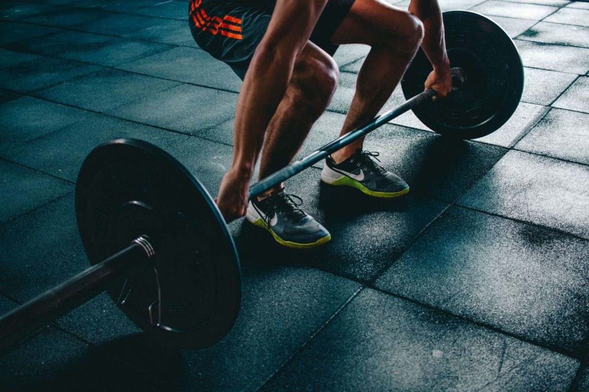 Exercising with a barbell